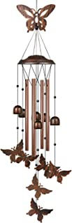 HANGHANG Butterfly Wind Chime Unique Outdoor with 4 Aluminum Tubes Soothing Melody Wind Chimes for Outdoor
