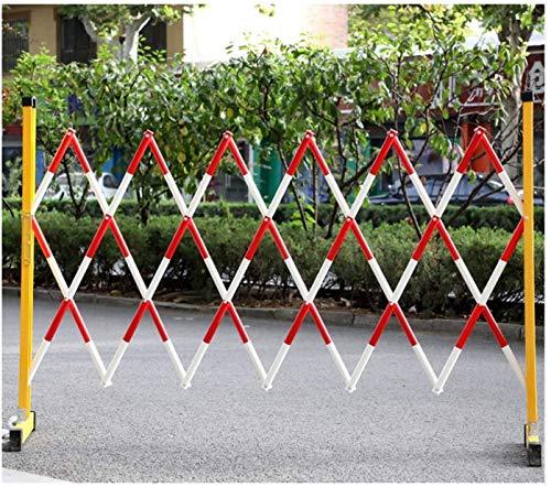 KANULAN Sistema de Bloqueo de Carreteras expandible 2 Ruedas Suaves para Postes Exteriores e Interiores Barrera de Cola Barreras de Seguridad de FRPCerca de Jardín