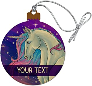 GRAPHICS & MORE Personalized Custom Majestic Unicorn 1 Line Wood Christmas Tree Holiday Ornament