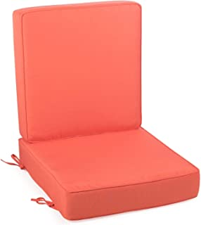 Home Improvements Coral Outdoor Patio Chair Deep Seat Cushion Set Hinged Seat Back