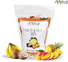 ReelFruit Non - GMO Premium Dried Tropical Fruit Mix, Cashews, Coconut, Mango Trailmix. No added Sugar Vegan Dehydrated Fruit Snacks & Made in Nature (500g - 17.50z)