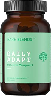 Bare Blends - Daily Adapt 30 Capsules | Daily Stress Management | Adaptogenic Herbs | TGA Approved | Vegan & Gluten Free