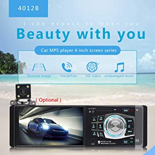 COODIO 4.1Inches Vehicle-Mounted MP5/MP4/MP3 Player Radio Plug-in Card USB Flash Drive Bluetooth Backwards View 4012B With...