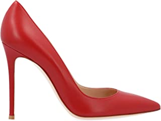 GIANVITO ROSSI Women's G2847015RICNAPTABS Red Leather Pumps