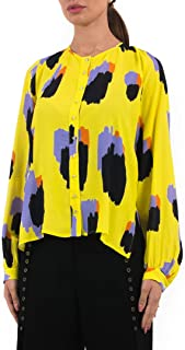 Just Cavalli High Low printed Casual Long sleeve Blouse for Women