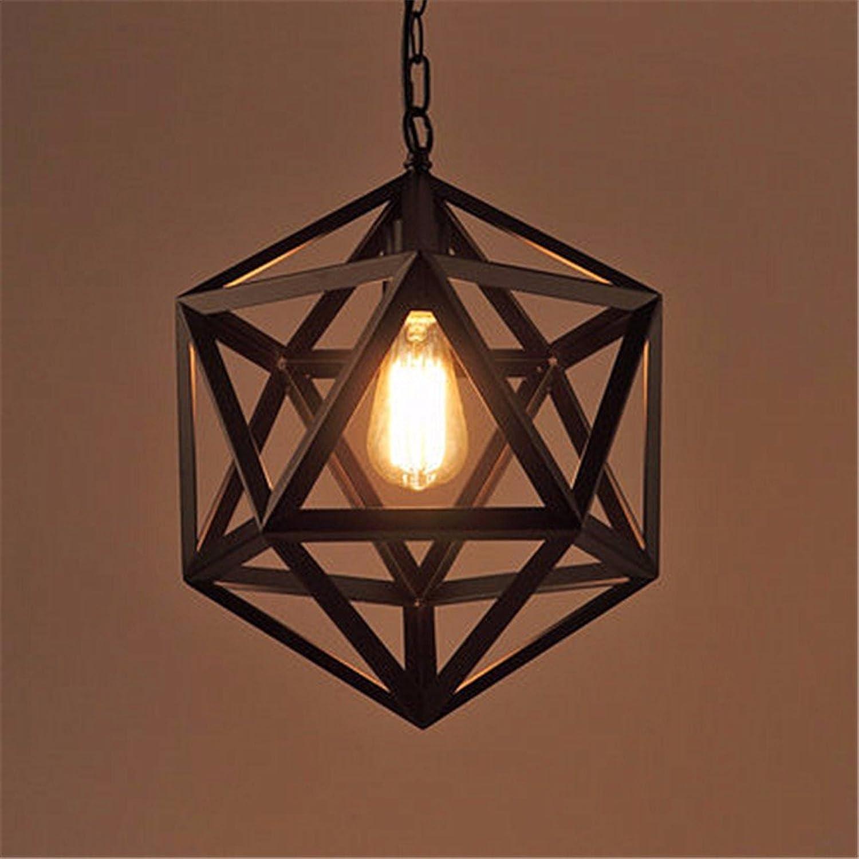 AOLOR Fer noir 35cm Suspension Lustre Suspendu Lampes Luminaires industrielle Plafond Rétro Vintage Moderne Loft Décoration Restaurant Balcon Salle