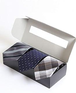 [タカキュー] ウォッシャブル ネクタイ 3本セット ギフトボックス付き ビジネス セレモニー タイ
