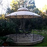 Garden Style Round Gazebo Replacement Canopy Top Cover