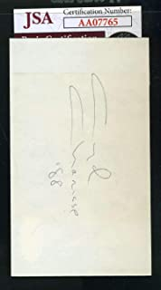MICKEY ROONEY Signed JSA Coa 3x5 Index Card Autograph Authentic