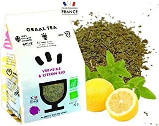 GRAALTEA - Infusion Dégustation - Verveine & Citron BIO en Vrac - 100% d'Origine Naturelle - Made in France - 1 Paquet x 7...