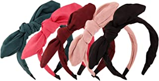 Qiabao Womens 5 Pack Assorted Cute Hard Headband Hair Band