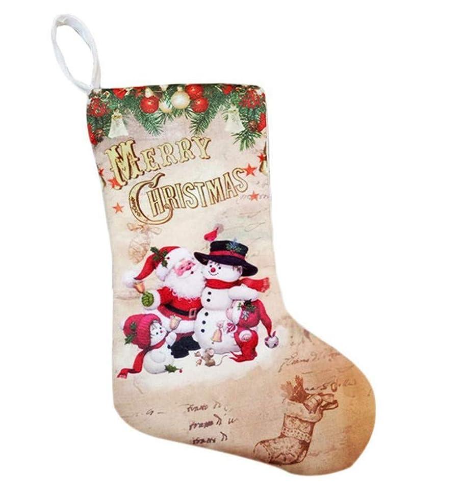 封筒交通反論Atum Happy サンタ & 雪だるま クリスマス ブーツ ソックス 大きな ツリー 飾り 靴下