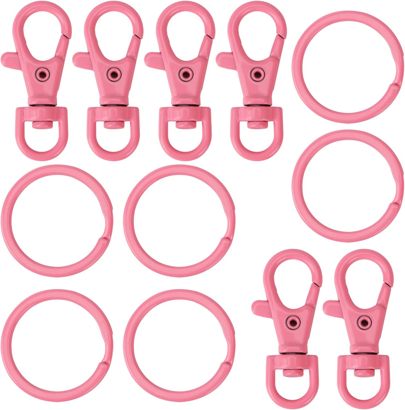 12pcs Swivel Clasps Lanyard Snap Hook Baking with Rings Key Flat Super popular specialty store sold out