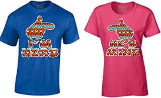I'm Hers He's Mine India Tribal Matching Couple Shirts Cartoon Hands T-Shirt