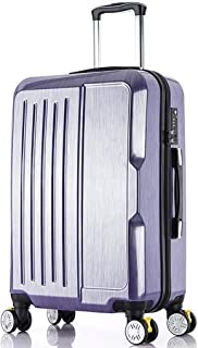 A-Lncie Trolley Box Lightest Height Adjustable Business Trolley Case Travel Bag Universal Wheel Aluminum Alloy Thickening Rod (Color : Purple)