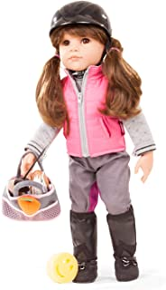 """Gotz Hannah Loves Horseback Riding 19.5"""" All Vinyl Posable Doll with Brown Hair and Brown Eyes - 20 Piece Set with Riding ..."""