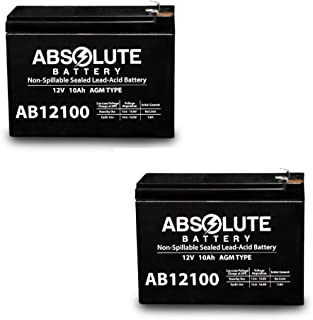 2PK 12V 10AH Replacement for Bladez Ion 450 Scooter Battery MK Battery ES10-12S