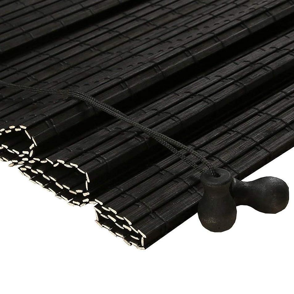 衰えるデジタル失業竹のローラーシェード、軽いろ過はバランスでブラインドをロールアップします (色 : ブラック, サイズ さいず : 80x180cm)
