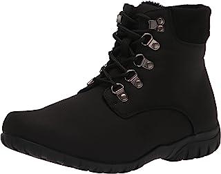 Propet Women's Dani Ankle Lace Snow Boot, Black, 6 Wide
