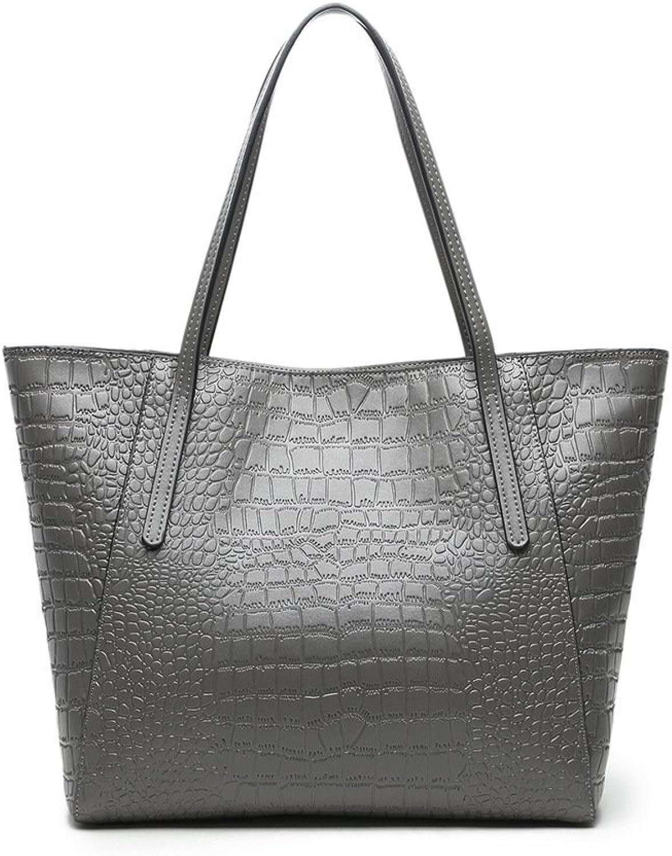 MTRSUE Womens Luxury Crocodile Grain PU Leather Handbags and Purses Tote Shouder Bag