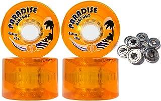 TGM Skateboards Bigfoot Freeride Longboard Wheels 65MM 78A Islanders Orange SHR Cruiser + ABEC 9'S
