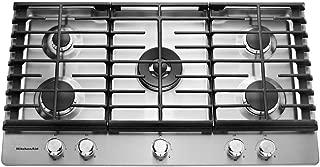 KitchenAid  36'' 5-Burner Gas Cooktop Stainless Steel KCGS556ESS