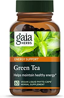 Gaia Herbs Green Tea, Vegan Liquid Capsules, 60 Count - Antioxidant Support and Heart Health Supplement, Certified Organic...