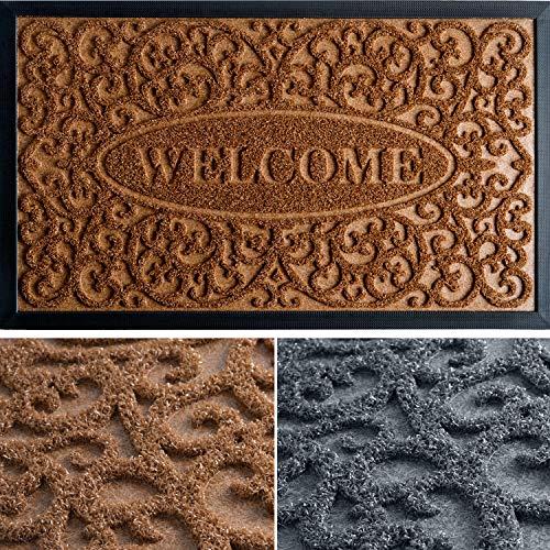 Extra Durable Door Mat 30x18 - Christmas Doormat - Welcome Mat - Front Door Mat Outdoor - Rubber Door Mat - Indoor Door Mat/Outdoor Doormat - Entry Rug - Doormat - Front Door Mat - Entryway Rug