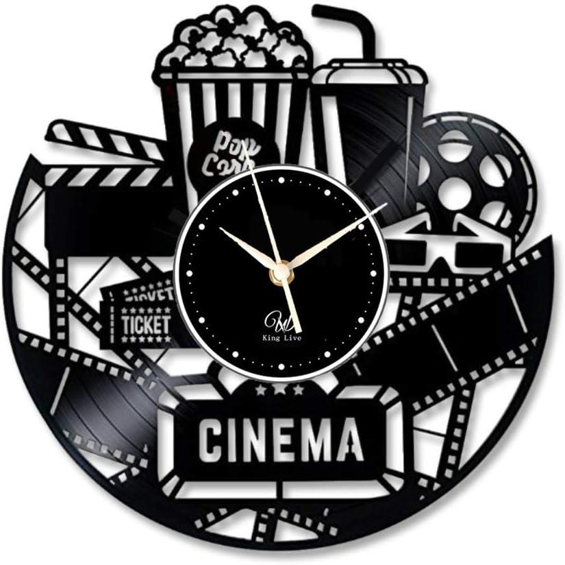 5. Cinema Vinyl Wall Clock