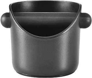 Coffee Knock Box, Espresso Knock Box for Barista Coffee Grind Knock Box Anti-slip Espresso Dump Bin Grind Waste Bin (Black)