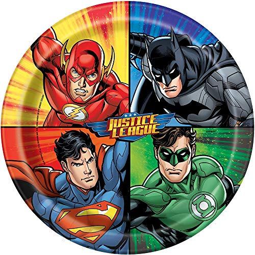 Unique Party 49965 - 23cm Justice League Party Plates, Pack van 8