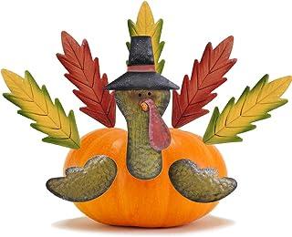 MorTime 七面鳥 パンプキン作りキット カラフル 金属 感謝祭 DIY パンプキン 七面鳥 パンプキンデコレーション かぼちゃに刺す 8個セット