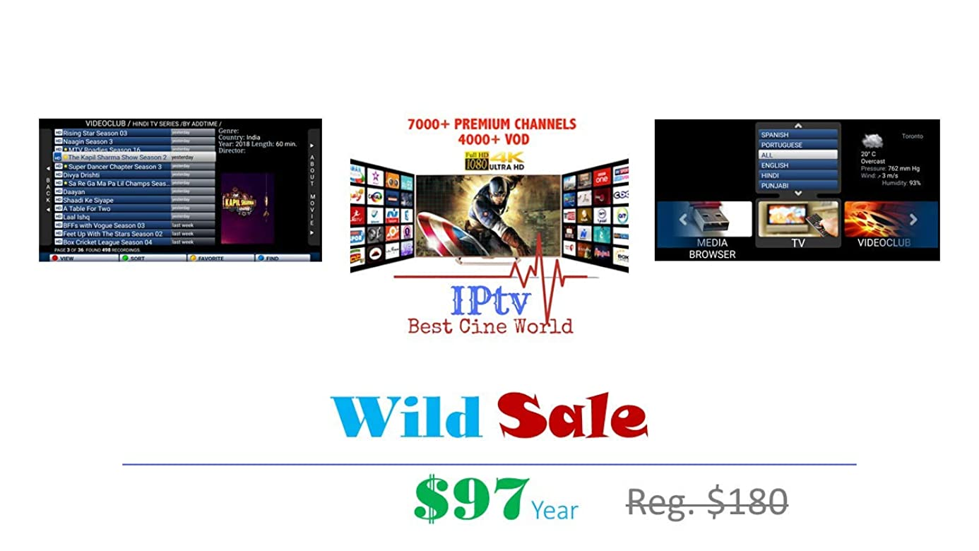 1 Year IPTV Subscription diffrent packages???? ??? ?? ????? ?? ????? ???? ???? ?