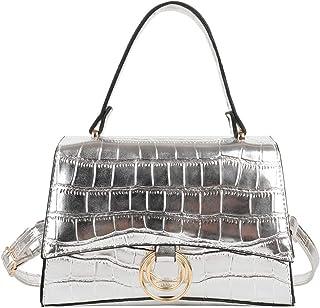 ARVALOLET Krokodillederhandtasche, modische einfarbige Pu-Leder-Krokodilmuster-Umhängetasche, Dame Designer-Umhängetasche,...