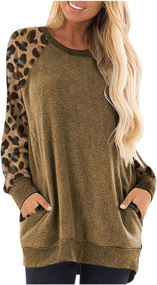 Eoailr Sweatshirt for Women Lightweight NEW before selling Cheap sale Leopard Pullover Color
