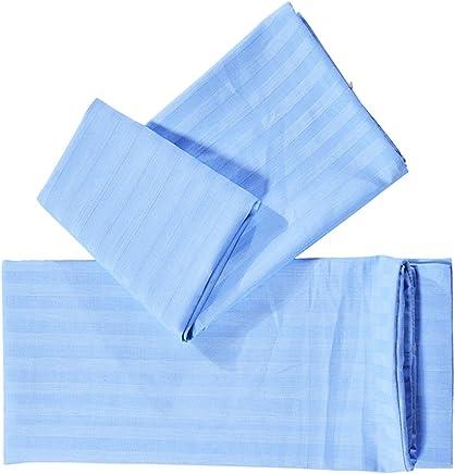 SM SunniMix 枕カバー 純粋な色 ソフト ピローカバー ピローケース 1ペア 4色3サイズ選択可能  - ブルー, S