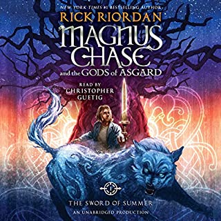 The Sword of Summer     Magnus Chase and the Gods of Asgard, Book One              By:                                                                                                                                 Rick Riordan                               Narrated by:                                                                                                                                 Christopher Guetig                      Length: 15 hrs and 21 mins     5,026 ratings     Overall 4.5