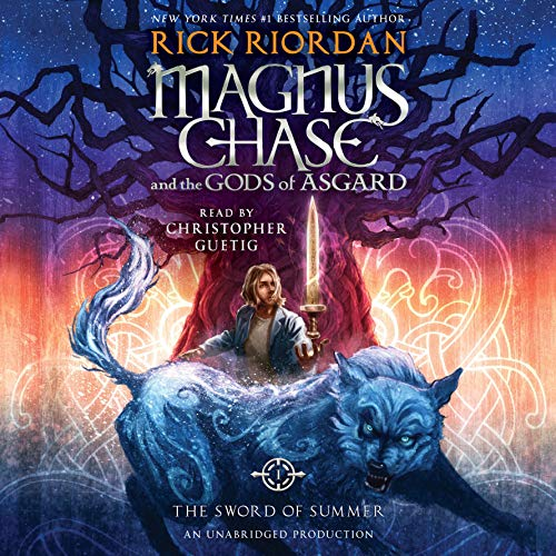 The Sword of Summer     Magnus Chase and the Gods of Asgard, Book One              Written by:                                                                                                                                 Rick Riordan                               Narrated by:                                                                                                                                 Christopher Guetig                      Length: 15 hrs and 21 mins     40 ratings     Overall 4.3