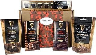 La Cesta Con La Selección Guinness Definitiva De Chocolate - Incluye Minipintas, Trufas, Minicaramelos, Chocolate Negro Y Con Caramelo - Cesta Exclusiva Para Burmont's