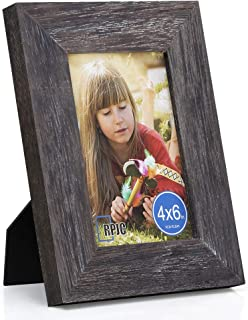 RPJC 4x6 inch Picture Frame Made of Solid Wood High Definition Glass for Table Top Display and Wall Mounting Photo Frame D...
