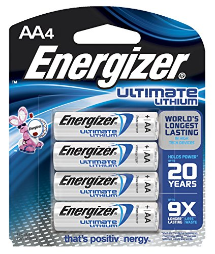 Energizer e2 Lithium AA Battery, 2900 mAh, 1.5 V,...
