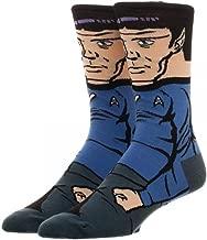 Bioworld- Star Trek Spock 360 Crew Sock, Multi, One Size