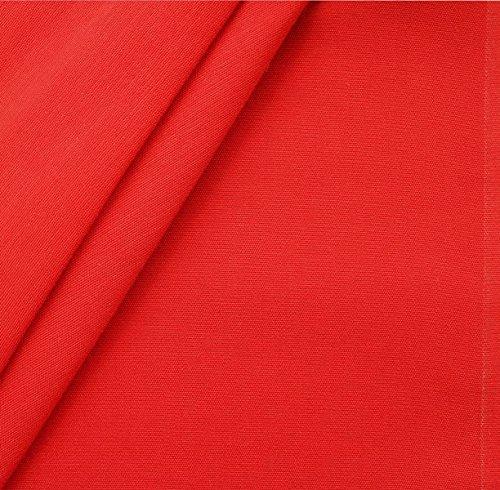 Liegestuhlstoff Outdoorstoff Stoff Breite 45 cm Meterware Rot