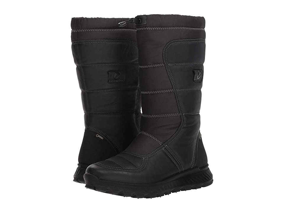 ECCO Sport Exostrike GORE-TEX(r) Tall Boot (Black/Black) Women
