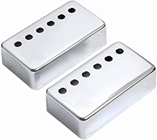 Musiclily 50mm Metal Humbucker Guitar Pickup Covers for Electric Guitar Neck, Chrome (2 Pieces)
