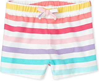 The Children's Place Baby Girls' Casual Stripe Shorts, Multi CLR