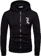 Stillieve Anime Series of Death Note Men's Hoodies Long Sleeve Sweater Zipper Sweatshirts