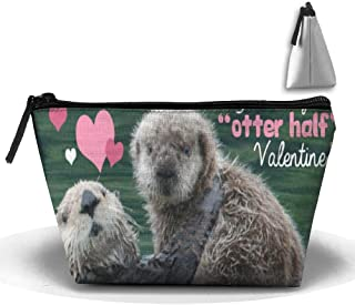 You're My Otter Half Valentine Personality Portable Women Trapezoid Travel Bag Cosmetic Bag Receive Bag