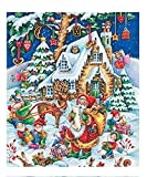 DIY Paint by Numbers for Adults and Kids'Christmas' DIY Adult Paint by Number Kits for Beginners On Canvas Rolled 40x50cm