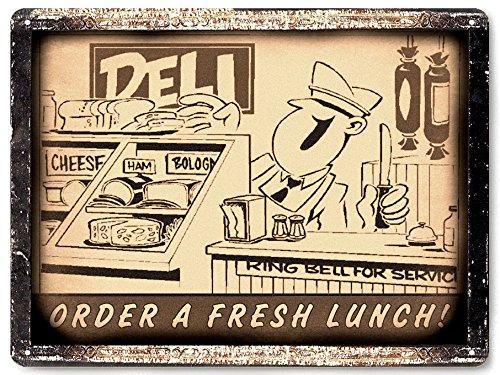 RETRO SIGNS BY J E MATRIX Deli Store Schild Butcher Shop Diner Wall Display Antik Vintage/für Restaurant Decor 040